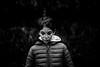 Rêverie (PaxaMik) Tags: portrait portraitnoiretblanc noiretblanc noir n§b hiver winter black blackandwhitephotos b§w visage face kid enfant simple zen melancholy mélancolie