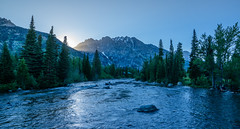 Grand Tetons (Paul Domsten) Tags: mountain grandteton nationalpark grandtetonnationalpark river pentax sky forest tree moutains wyoming sunset