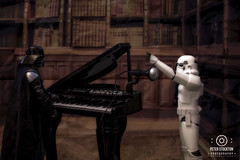 secret life of toys .  star wars  day off (kapper22) Tags: darth vader storm trooper piano books singing indoors photoshop fun manipulation microphone toys posing