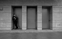 enjoy your own company... (hugo poon - one day in my life) Tags: xt20 23mmf2 hongkong central chaterroad goodmorning rainy architecture solitude alone smoking phone break