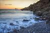 (098/18) Otro atardecer en la cala (Pablo Arias) Tags: pabloarias photoshop photomatix capturenxd españa cielo nubes mar agua mediterráneo puestadesol playa paisaje ola roca cala tiximo benidormalicante