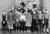 Class Photo (theirhistory) Tags: girls children school class form kids boys skirt teacher jacket jumper shoes clogs wellies dress boots