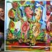 наивный художник пейзажист городской город картины красочные большие произведения искусства