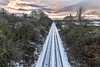 Straight Lines_G5A5936 (ronniefleming@btinternet.com) Tags: railway railwaylines perthtoaberdeenline scotland perth perthshire warmsky clouds firesky 2018