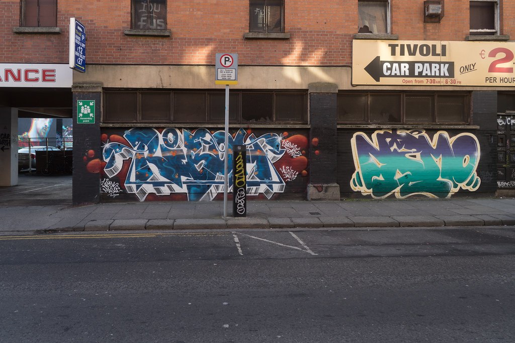 STREET ART AT THE TIVOLI CAR PARK IN DUBLIN [LAST CHANCE BEFORE THE SITE IS REDEVELOPED]-135660