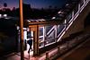 Destination home - Tokyo, Japan - Color street photography (Giuseppe Milo (www.pixael.com)) Tags: stairs night man urban photo candid photography street alone streetphotography city sunset japan subway tokyo orange onsale