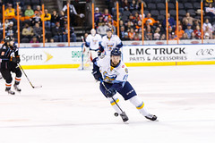 "Kansas City Mavericks vs. Toledo Walleye, January 19, 2018, Silverstein Eye Centers Arena, Independence, Missouri.  Photo: © John Howe / Howe Creative Photography, all rights reserved 2018. • <a style=""font-size:0.8em;"" href=""http://www.flickr.com/photos/134016632@N02/38940440585/"" target=""_blank"">View on Flickr</a>"