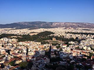 Athene - panoramisch zicht vanop de Acropolis