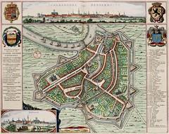 Jan (Joan) Willemsz. Blaeu - Map of Dendermonde, from the Atlas van Loon (1649) (Pau NG) Tags: janwillemszblaeu art maps engravings 1649 dendermonde
