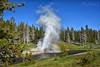 Rainbow Geyser (Jim Johnston (OKC)) Tags: riversidegeyser uppergeyserbasin oldfaithfulinn eruption yellowstonepark wyoming rainbow
