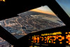 Overflying Saint Petersburg (GirarFly798) Tags: aviation aircraft airplane airbus a320 cockpit sunset saint petersburg