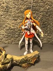 The Victor (Sasha's Lab) Tags: asuna sword art online rapier dungeon dinosaur figma action figure jfigure gsc toy