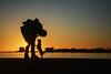 Complicità - Complicity. (sinetempore) Tags: complicità complicity tramonto sunset mare sea ionio salento puglia torrelapillo silhouette cane dog uomo man street amore love ilcaneeilsuopadrone caneepadronesilhouette sole sun