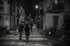 Downtown in Barceloneta..... (Dafydd Penguin) Tags: blackandwhite blackwhite black white bw monochrome mono noir night shots street candid scene after dark people barcelona barceloneta spain catalunya catalonia europe city urban town district metropolis leica m10 elmaritm elmarit 21mm f28