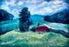 Rolling Hills (Terry Pellmar) Tags: texture digitalart digitalpainting hills barn maryland field