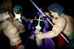 Paprihaven 1296 (MayorPaprika) Tags: huntress dcdirect universe alley back dark fight fire escape generic knockoff bootleg canoneosrebelt6i 112 custom diorama toy story paprihaven action figure set 80s 90s birdsofprey