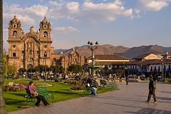 Cuzco, Peru (szeke) Tags: church cathedral colonial square clouds religious peru cusco landscape