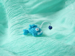 89-Anglerfish 13mm (3) (tinyteensdolls) Tags: amigurumi crochet craft crochetmini crochettoy crochetminiature toy tinyamigurumi tiny threadcrochet miniature mini microcrochet micro minicrochet miniamigurumi fish anglerfish crochetfish bluefish bluefungus blue fungus