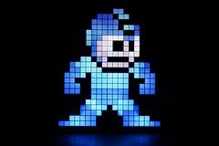 Mega Man! (flashfix) Tags: february012018 2018inphotos ottawa ontario canada nikond7100 40mm nikon flashfix flashfixphotography light lamp pixel megaman nintendo character blue glow