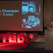 TEDxExeter organiser Claire Kennedy introducing the speakers at the TEDxExeter 2018 launch event at Royal Albert Memorial Museum