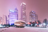 (2.8.18)-Winter_Storm_Mateo-WEB-21 (ChiPhotoGuy) Tags: chicago winter snowglobe snow snowy storm mateo weatherchannel architecture cold frozen snowstorm cloudgate thebean sculpture