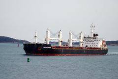 La Chesnais (jelpics) Tags: lachesnais bulkcarrier boat boston bos bostonharbor bostonma cargoship commercialship harbor massachusetts ocean port sea ship vessel crane cranes