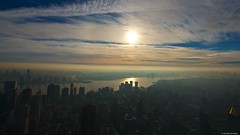 IMGP5277 Sunrise over Brooklyn (Claudio e Lucia Images around the world) Tags: brooklyn manhattan empirestatebuilding newyork apple bigapple sunrise clouds sun pentax pentaxk5 sigma sigma1020 earlymorning