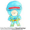 Kawaii Cyclops (drawingtutorials101.com) Tags: kawaii cyclops characters character comics comic cartoons cartoon how draw color pencil pencils chibi drawing drawings with