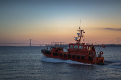 Pilot boat SAR 1 (A.Dissing) Tags: transport maritime pilots pilot boat ship red sunset bridge orange speed land fredericia denmark sky sony scape sun golden outside outdoor ocean out water white world weather 85mm a7ii anders a7 amazing adventure art awesome a7m2 artistic dissing danmark detail fantastic fun town interesting sar 1