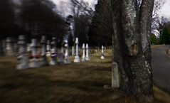 2018_02_13_life_journey _DP31011 20180213-31011 (dpowersdoc) Tags: lifeisajourney selectivefocus burial cemetery death end grave lensbaby tree road roadway path exit heaven nowhere