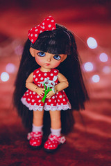 Flowers for my Valentine <3 (*DollyLove*) Tags: valentines day hearts love cute doll bjd tiny lati yellow sophie tan