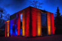 Colored House (marceberhardt1) Tags: gruga grugaleuchten leuchten night nacht bunt lichter farben color haus house gebäude