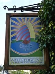 Ambleside, Cumbria (cherington) Tags: wateredgeinn ambleside cumbria england unitedkingdom pictorialsigns pubsigns traditionalpubsigns englishpubsigns socialhistory innsigns