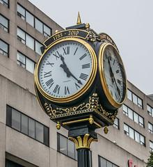 20160814_1019NB Clock in downtown Saint John, NB (tulak56) Tags: 2016 maritimes saintjohn newbrunswick downtown canada clock 1123