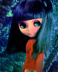 Like a Drug (alexbabs1) Tags: blythe doll takara hasbro asian butterfly encore blue hair loves it random lol spontaneous moment red sweater sparkle shine glam dolls cutie cute japanese fashion style icon kylie minogue x trippy psychedelic 1960s 60s vintage hehe sarah palins bangs
