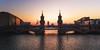 Berlin - Oberbaumbrücke (030mm-photography) Tags: rot berlin oberbaumbrücke morgen sonnenaufgang spree winter sonne architektur stadt city kreuzberg freidrichshain eastsidegallery mauer berlinermauer wall