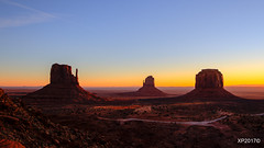 Sunrise at Monument Valley (explored January 17, 2018!) (xiaoping98) Tags: sunrise monumentvalley utah arizona navajo winter landscape mittens