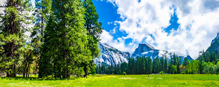 Yosemite Valley and Half Dome Digital Painting