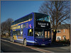 First Eastern Counties 33809 (Jason 87030) Tags: 33809 first enviro e400 doubledecker guyhirn wisbech norwixh x1 janauary roadside shot shoot sony ilce alpha a6000 blue gold bus wheels 2017 woman scene sunny weather easterncounties cambridgeshire uk england yx63lju thorneytoll a47 recent new