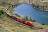 First run west (Moffat Road) Tags: canadianpacific cp ge ac4400cw sulfurtrain unittrain thompsonriver sulfur gons curve canyon spencesbridge britishcolumbia bc thompsonrivercanyon locomotive 9834 canada