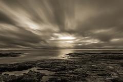 Atlantic Ocean Road (Stokkis) Tags: longexposure ocean seascape rocks sky water blackandwhite