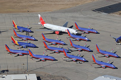 Southwest Airlines 737-300s VCV (ColinParker777) Tags: southwest swa wn boeing 737 733 737300 storage stored parked withdrawn retire retired retirement scrap scrapping vim 777 772 vpbya vcv victorville souther california logistics airport socal usa america us canon 5d 5dmkiii 5dmk3 5d3 5diii 100400 l lens zoom telephoto