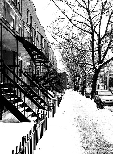 Plateau Staircases Lined Up in Winter