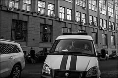 DR160218_0278D (dmitryzhkov) Tags: russia moscow documentary street life human monochrome reportage social public urban city photojournalism streetphotography people bw dmitryryzhkov blackandwhite everyday candid stranger conversation speak group bunch vehicle transport