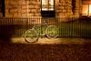 The light (Reckless Times) Tags: bike bycycle fence chained locked secured light oxford university tourist travel explore visit england uk nikon d750 100x project cobble spotlight