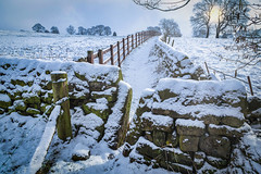 Through the Stile (peterwilson71) Tags: snowfall stile fields sunlight frozen cold trees clouds canon6d exposure ice skys landscape nature outdoors rocks stone view yorkshire