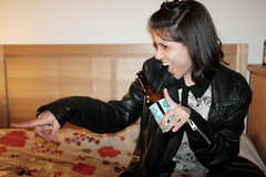The Peruvian girl (Gary Kinsman) Tags: peruvian woman clapton fujix100t fujifilmx100t 2018 london hackney e5 party houseparty flash candid unposed people person smile grin highiso drink birthday birthdayparty point laugh slowsync slowsyncflash beer bottle late night girl