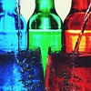 Watercolours (mrsparr) Tags: bottle bottles blue red green glass glasses waterdrops water colour color colourful colorful contrast odc closeup macro indoors arrangement creative weeklythemechallenge ourdailychallenge indoorphotography tabletopphotography creativetabletopphotography 365 52in2018 colours colors artsandcrafts foodcolouring theflickrlounge weeklytheme likeapainting 7dwf