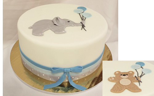Elephant or Bear Balloon Cake