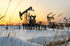 Oilfield during sunset in winter time (Polina K Petrenko) Tags: oil fuel pump pumpjack pipeline gasoline gas oilfield energy exploration equipment nature pollution machine rig well pipe industry sunset sunrise wellhead environment ecology barrel derrick generation business technology drill power petroleum industrial fossil construction supply refinery black drilling crude resource plant tool field extraction sky cloud